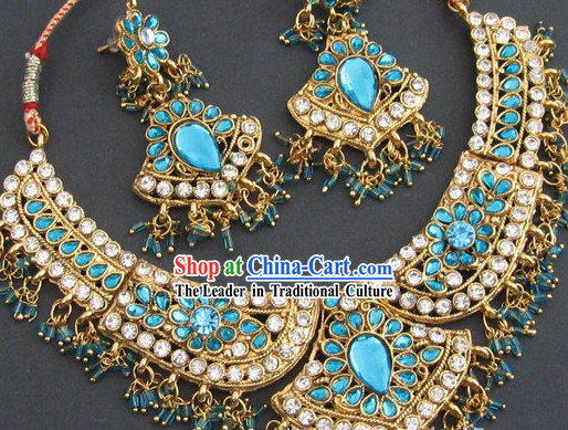 Traditional Indian Necklace Jewelry Set - Braveness