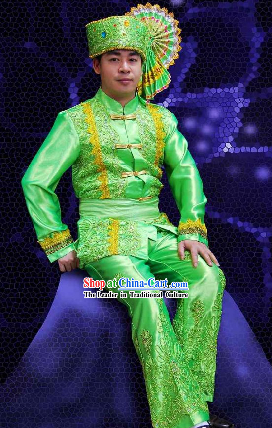 Traditional Thailand Men Clothes Set