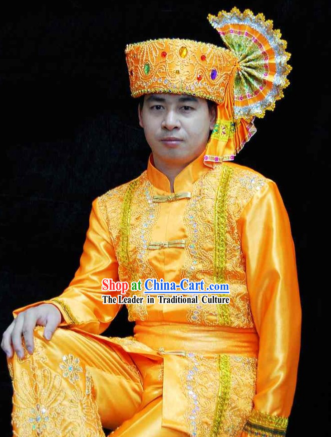 Traditional Thailand Men Costumes Set