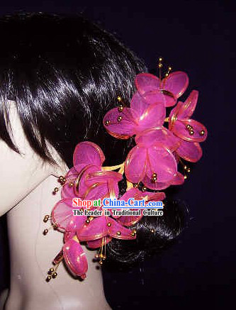 Thailand Pink Hair Decoration Flower for Women
