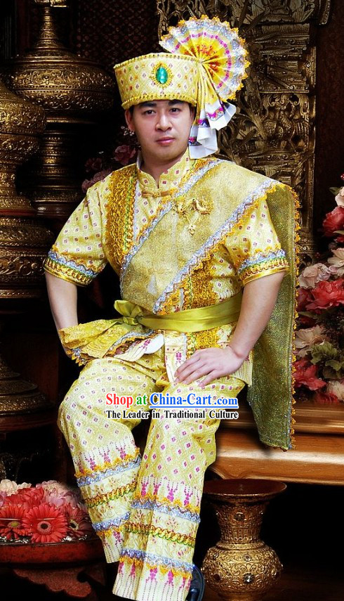 Traditional Thailand Emperor Costume Set for Men
