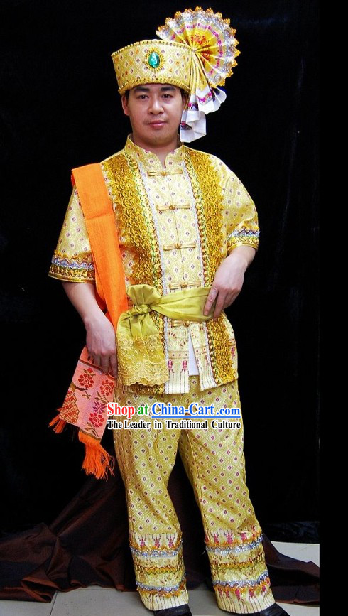 Traditional Thailand Ceremony Dress Set for Men