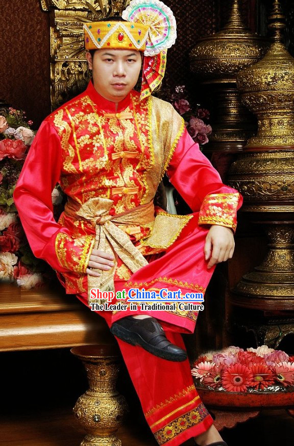 Traditional Thailand Wedding Dress for Bridegroom
