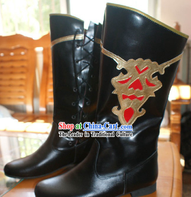 Traditional Mongolian or Minority Dance Boots
