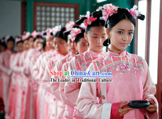 TV Drama Palace Qing Dynasty Ji Qingchuan Costumes and Wig Set