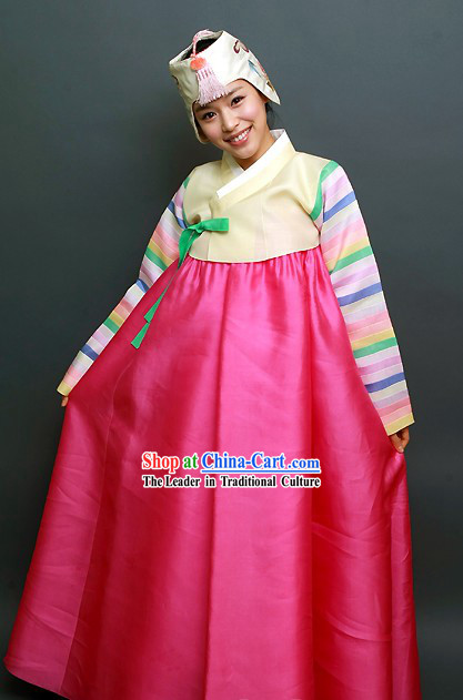 Traditional Korean Hanbok Coat Set for Women