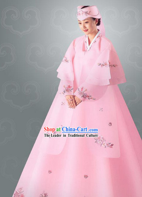 Traditional Korean Wedding Hanbok Set for Bride