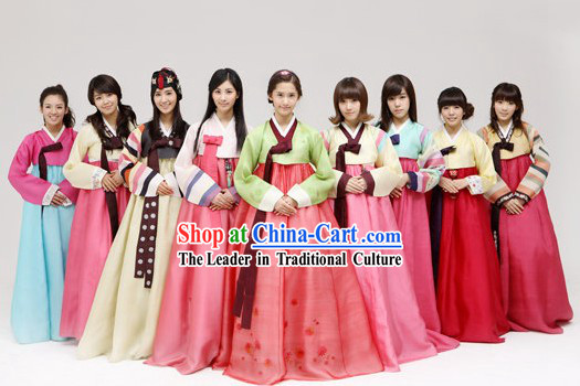 Ancient Korean Hanbok Nine Sets for Women