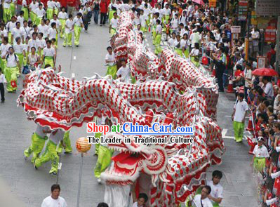 50 People Dragon Dance Costumes Complete Set