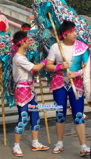 Chinese Traditional Dragon Dance Uniform Set