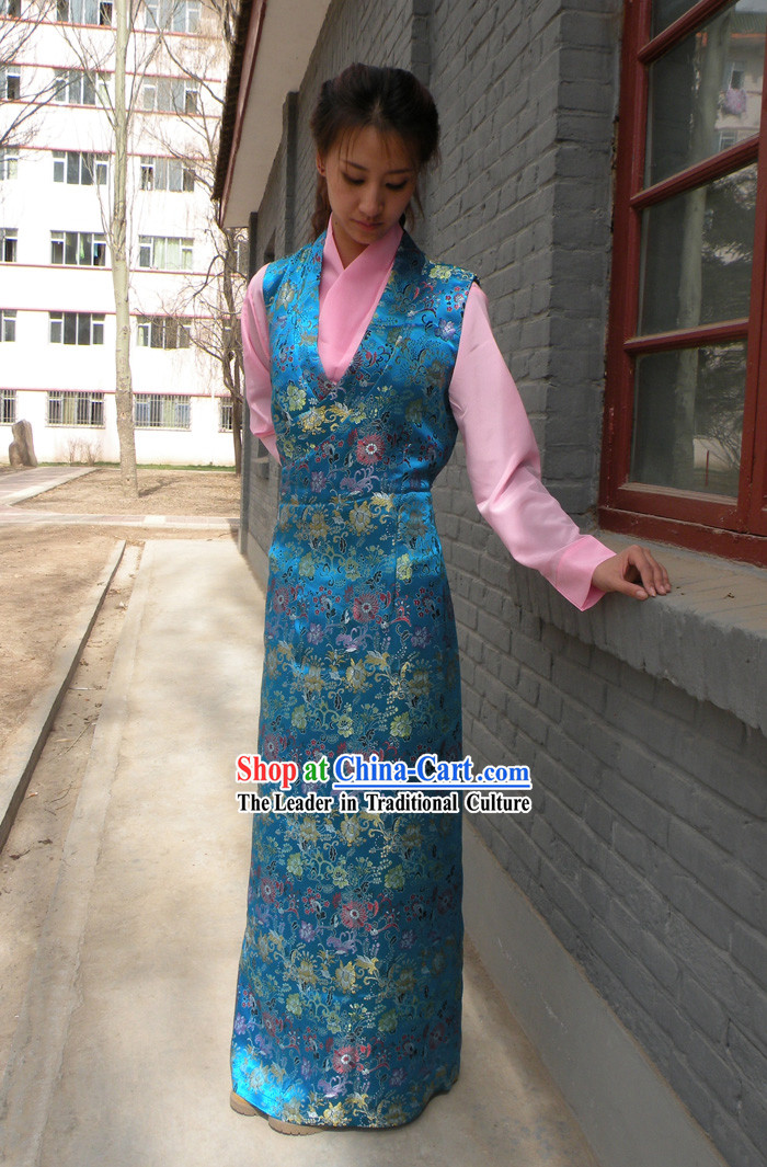 Traditional Chinese Tibetan Costume Complete Set