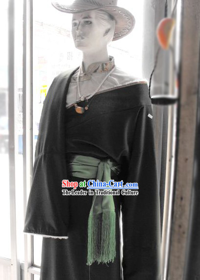 Traditional Tibetan Male Dress Complete Set