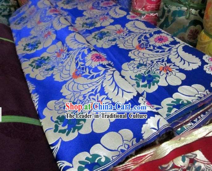 Traditional Chinese Flower Brocade Fabric