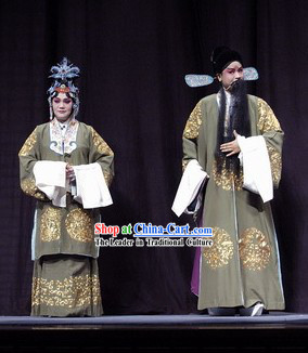 Peking Opera Laodan and Laosheng Dresses 2 Sets