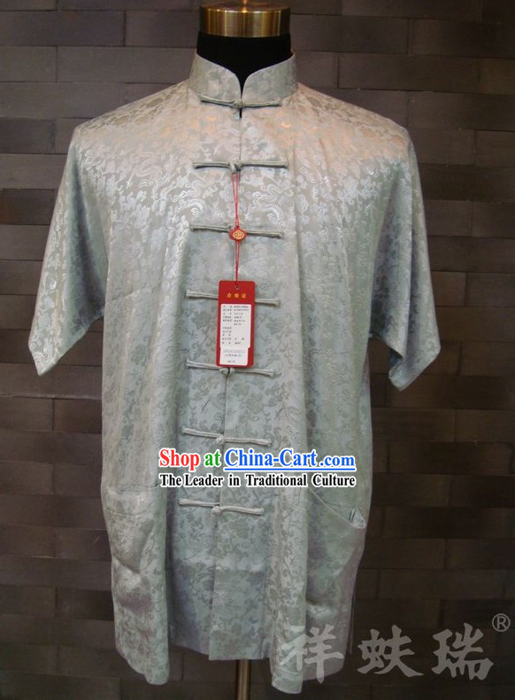 Rui Fu Xiang Traditional Chinese Silk Dragon Shirt for Men