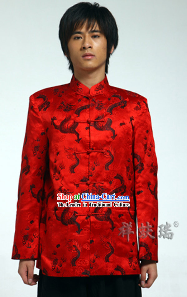 Traditional Chinese Rui Fu Xiang Dragon Wedding Dress for Men