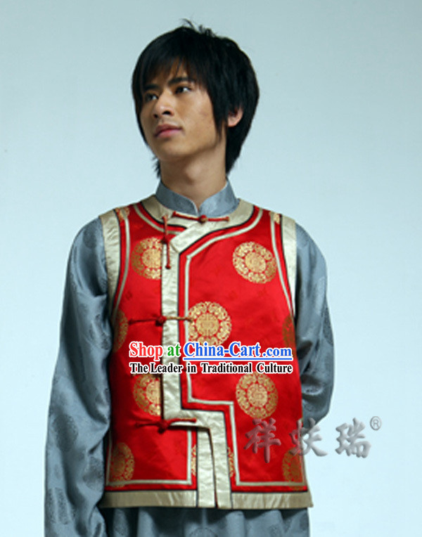 Traditional Chinese Rui Fu Xiang Wedding Jacket for Men