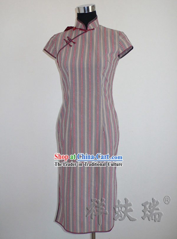 Beijing Rui Fu Xiang Cotton Cheongsam for Women