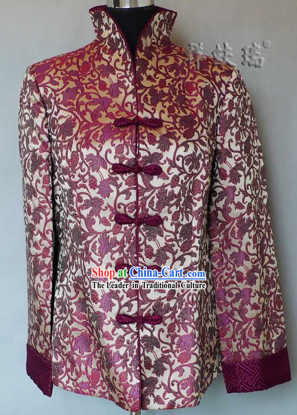 Famous Time-honored Rui Fu Xiang Silk Jacket for Women