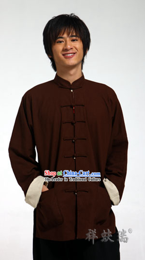 Famous Time-honored Rui Fu Xiang Flax Tang Suit for Men