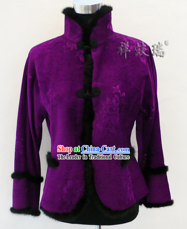 Well-known Rui Fu Xiang Purple Tang Suit for Women