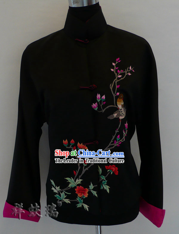 Beijing Rui Fu Xiang Silk Embroidered Tang Suit for Women