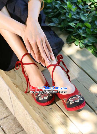 Chinese Handmade Embroidered Cloth Shoes