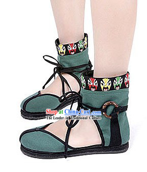 Traditional Chinese Opera Masks Summer Cloth Shoes