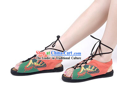 Traditional Chinese Handmade Butterfly Summer Sandals