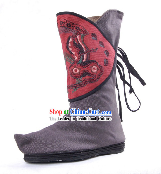Traditional Chinese Embroidered Boots