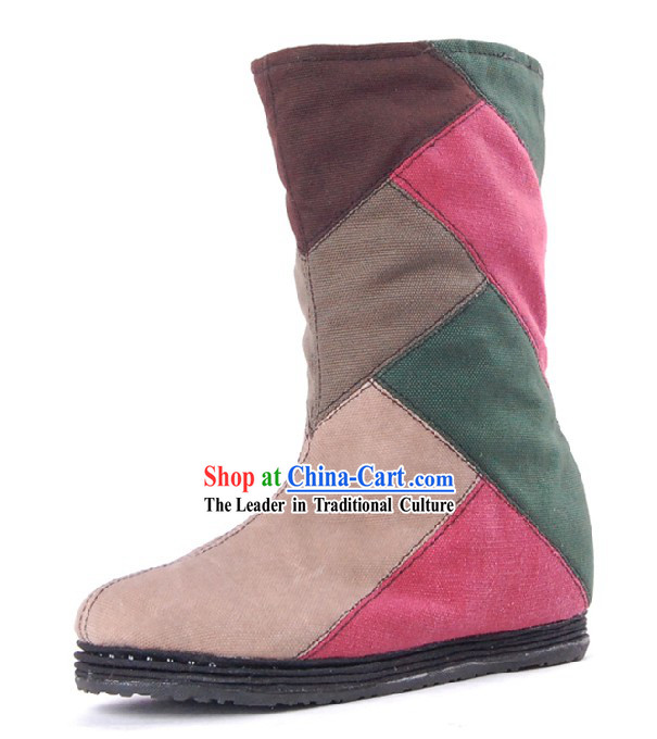 Traditional Chinese Handmade Cloth Boots