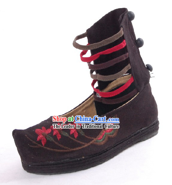 Traditional Chinese Handmade Embroidered Summer Cool Boots