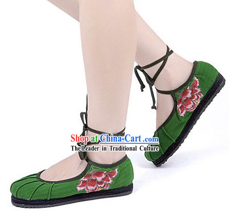 Traditional Chinese Handmade Dance Cloth Shoes