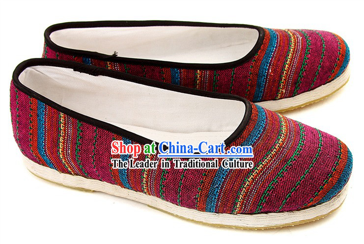 Traditional Chinese Beijing Bu Ying Zhai Cloth Shoes for Women
