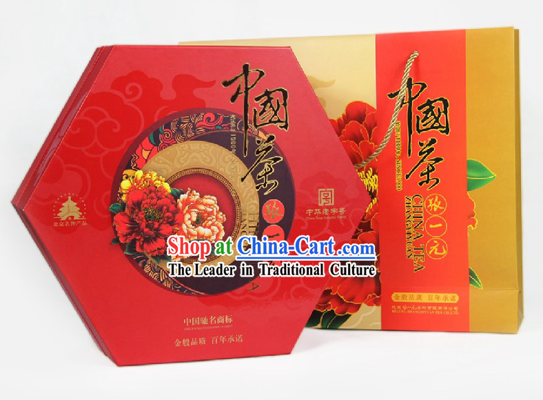 Chinese Zhang Yiyuan Longjing Tie Guanyin Red and Flower Tea Leaf in Gift Package