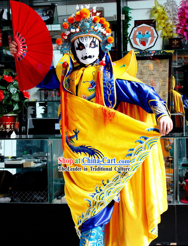 Chinese Sichuan Opera Mask Changing Costumes Hat Eight Masks Music CD and Teaching DVD Ccomplete Set