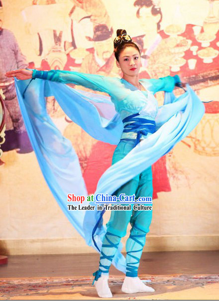 Ancient Chinese Ribbon Dancer Costumes Set
