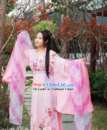 Hand Painted Genuine China Clothes Hanfu for Women