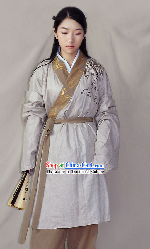 Hand Painted Chinese Traditional Hanfu Garment for Men
