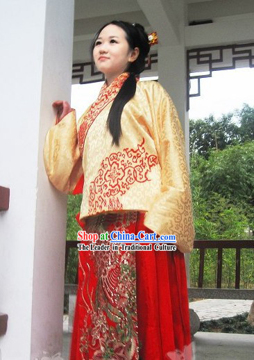 Hand Painted Ming Dynasty Waistcoat Clothing for Women