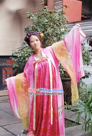 Chinese Tang Dynasty Hanfu Clothing Complete Set