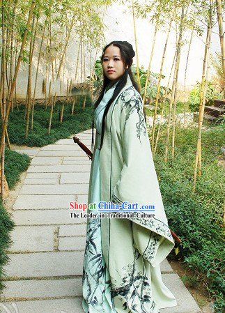 Chinese Hand Painted Swordsman Hanfu Full Set