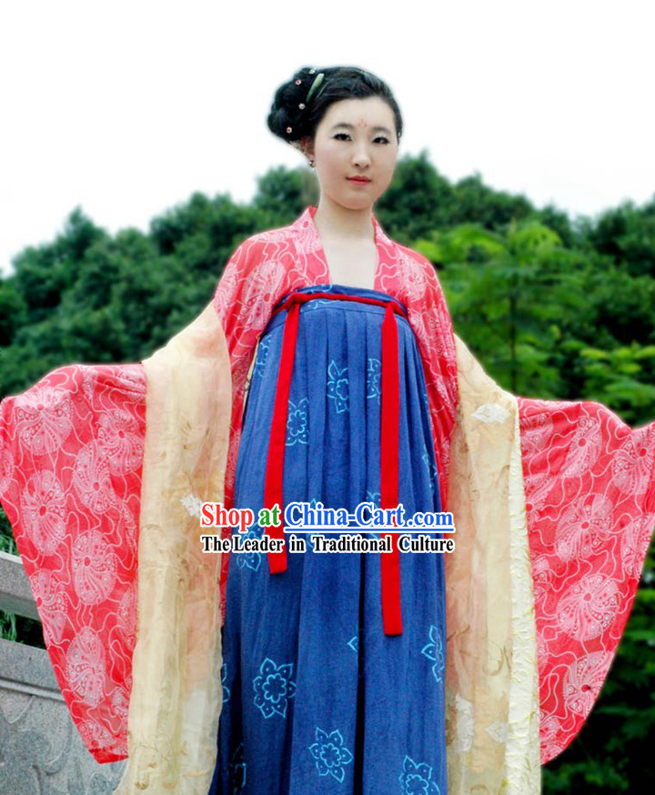 Chinese Hanfu Wedding Attire Complete Set for Women