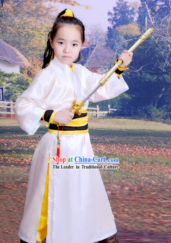 Chinese Kung Fu Hanfu Clothing Complete Set for Children