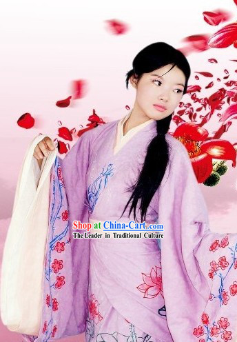 Chinese Handmade National Clothing Complete Set for Women