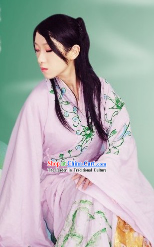 Ancient Chinese Zhiju Hanfu Clothing Complete Set