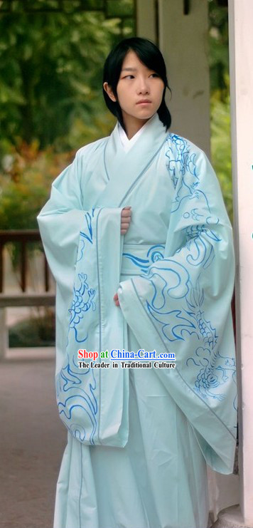 Chinese Ornate Dragon Robe National Clothing Complete Set for Men
