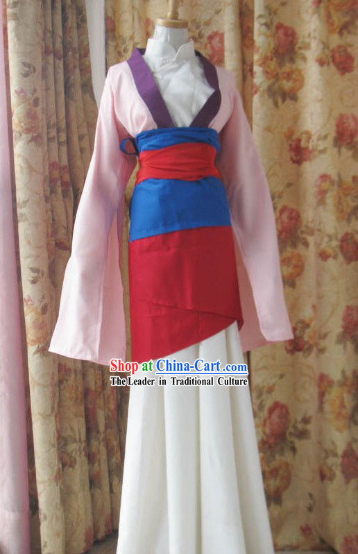 Chinese Hua Mu Lan Cartoon Costumes