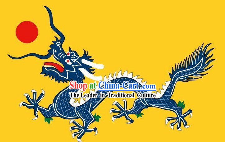 Custom Made Qing Dyansty Manchu Triangle Dragon Flag