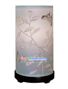 Traditional Chinese Hand Painted Silk Desk Lantern